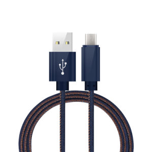 best sneakers 39554 d243a 1m Cowboy Jean Mirco USB Charging Cable for Android Type C iPhone 8