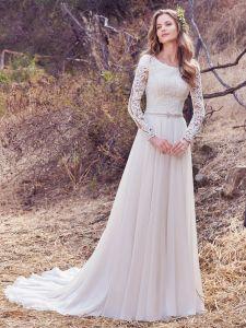 d3d969976a6c5 China Amelie Rocky 218 Chiffon Long Sleeve A Line Wedding Dress ...