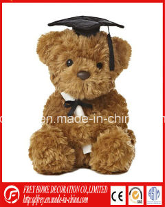 Plush Toy of White Teddy Bear for Graduation pictures & photos