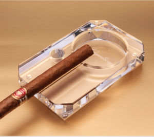 Solanlong Cigar Crystal Glass Ashtray Living Room Decorated With Large Personalized Gift Box Packaging