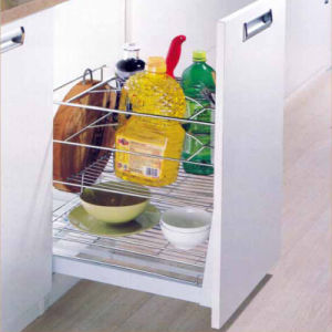 Pull Roll out Wire Drawer Kitchen Cabinet Basket Lbb-825
