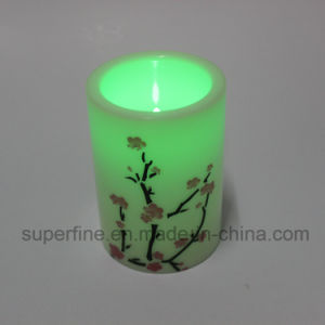 Realistic Flickering Pattern Printed Star Shining LED Candles for Party pictures & photos