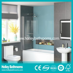 Aluminium Walk-in Shower Screen with Clear Tempered Glass (SE931C)