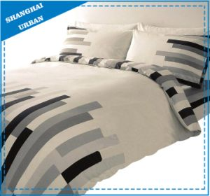 Modern Stripe Design Cotton Printed Duvet Cover Bed Linen