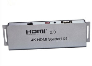 1X4 HDMI Splitter (HDMI 2.0, HDCP2.2, 4K, IR extension, EDID management, RS232) pictures & photos