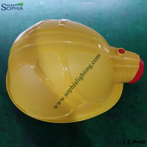 New 2500mAh Safety Helmet Cap Lamp with ABS and Plastic Clip