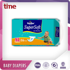 Printed Soft Cloth Like Disposable Type Baby Diapers Manufacturer pictures & photos