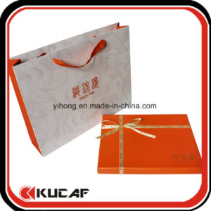 Custom Sliver Hot Foil Logo Cardbord Scarf Box pictures & photos