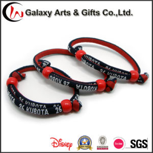 Professional Woven Fabric Bracelet/ Round Rope Wrist Bands Custom Festival Embroidered Wristbands