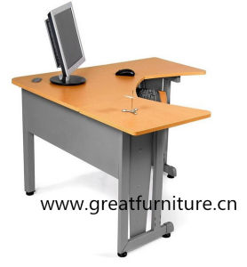 L-Shaped Freestanding Workstation W Modesty Panel with Resistant Paint Finish pictures & photos