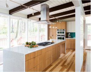 Project Design Maple Wood Kitchen Cabinet