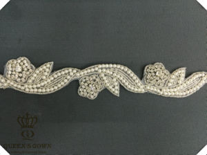 Long Section of The Wedding Dress Rhinestone Belt, Factory Direct