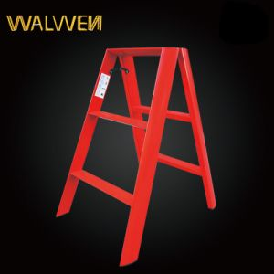 A Shape Plastic Sprayed Folding Aluminum Ladder pictures & photos