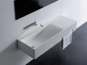 Acrylic Solid Surface Stone Washbasin pictures & photos