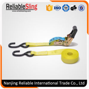 En12195-2 25mm Rubber Coated Ratchet Tie Down Straps with 2 S Hooks pictures & photos