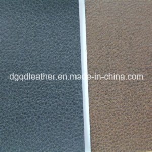Two-Tone Color Sofa Semi-PU Leather (QDL-51352) pictures & photos