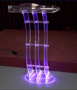 Factory Supply School Furniture Acrylic LED Platform pictures & photos