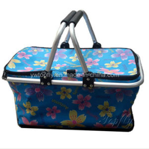 Supermarket Equipment Portable Folding Shopping Basket pictures & photos