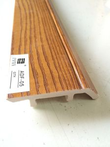 Low Sparking PVC Wll Skirting Baseboard Wood Coated Patterm pictures & photos