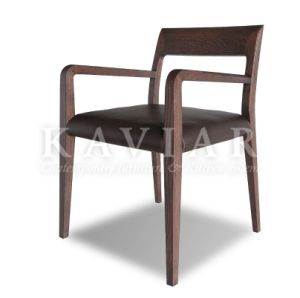 Modern Elegant Design Simple Solid Wood Dining Chair Covered with Leather (RA107)