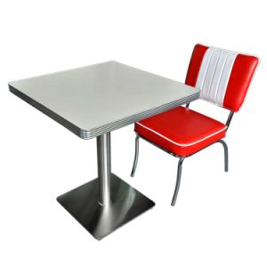 Retro American 1950 Style Diner Metal Table And Chair Set, Antique American  Restaurant Metal Furniture