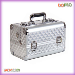 Silver Diamond ABS Cosmetology Travel Carrying Case (SACMC089)