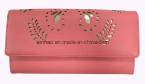Perforated Butterfly Laser Cut PU Leather Lady Purse