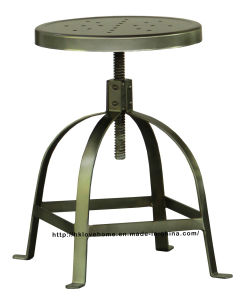 Industrial Metal Restaurant Dining Swivel Steel Bar Stools pictures & photos