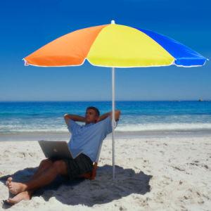 China 7 Nylon Beach Sun Umbrella