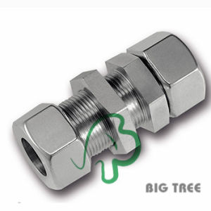 Straight Bulkhead Coupling Stainless Union Tube Compression Fitting pictures & photos