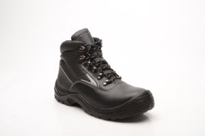Hot Sell Casual Style Smooth Leather Safety Shoes (HQ03054) pictures & photos
