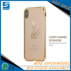 Star Elegant Series Electroplate TPU with Rhinestone Case for iPhone X