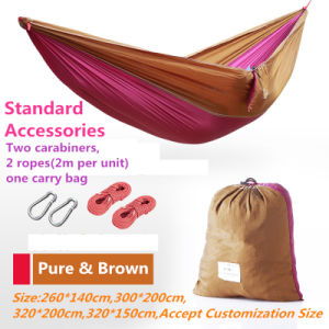 Carries Luxury High-Quaity Nylon Double Hammock with Carabiners