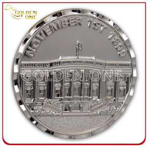 Customized Style Shiny Nickel Finish Metal Commemorative Coin pictures & photos