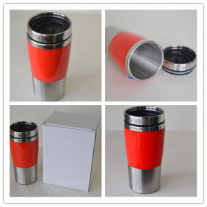 Stainless Steel Double-Wall Travel Mug Dn-001b pictures & photos