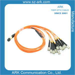 MPO Fiber Optic Patch Cable for Data Transmission pictures & photos