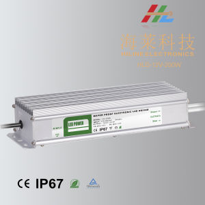 200W 12V 24V IP67 LED Power Supply LED Driver pictures & photos