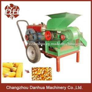 Electric or Diesel Corn Skin Removing and Sheller Machine / Maize Thresher and Shelling Machine