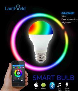 E27 E26 E22 GU10 Bluetooth RGB LED Smart Bulb with WiFi Control