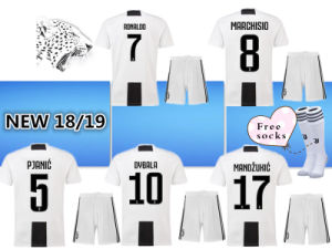 New 18 19 Home Soccer Jersey 2018 Kids Kit Juventus Dybala Higuain Third  3rd Football Shirt 8b1f724ff