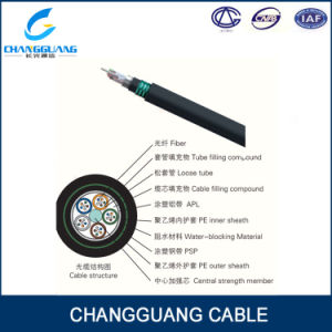 Factory Supply Aerial Overhead 6 Core Fiber Optic Cable GYTA53