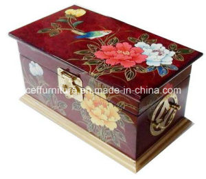 Oriental Wooden Asia Art Hand Painted Lacquer Jewelry Box