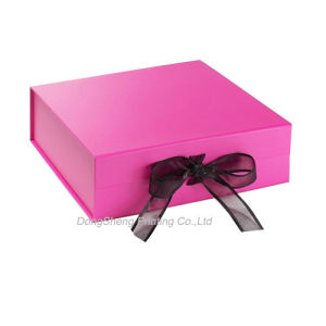 Pretty Pink Cardboard Paper Baby Shoes Folding Package Boxes