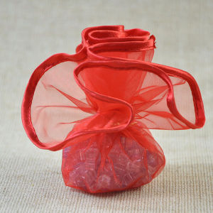 Satin Edged Organza Drawstring Circles