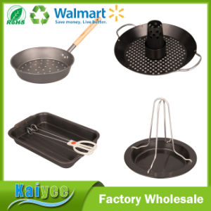Household Cook Kitchen Ware for Kitchen Roaster, Fry Pan, Bake Tray with Rack and Clip pictures & photos