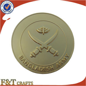 Factory on Minumum Metal Gold Cheap Zinc Custom Coins (FTCN1995A) pictures & photos