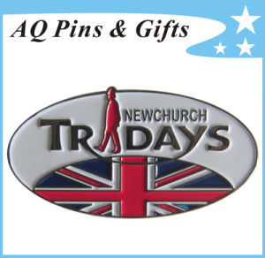 Good Price Metal Lapel Pin in Oval Shape with Soft Enamel (badge-137) pictures & photos
