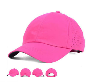 Casual Sport Women′s Pink Polyester Golf Caps pictures & photos