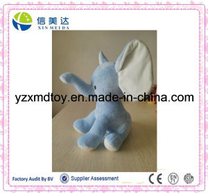 Custom Plush Velvety Blue Elephant Baby Toy pictures & photos