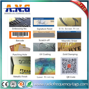 Cr80 Size Clear Transparent Business Card RFID with Black Magnetic Stripe pictures & photos